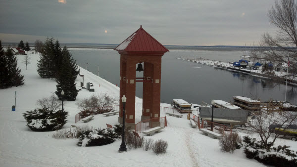 Marquette's Lower Harbor in the Winter